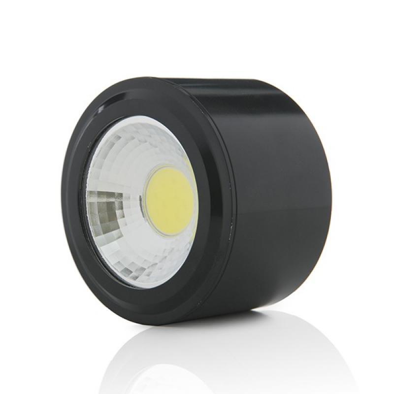 Foco Downlight LED de Superficie COB Circular Negro Ø68Mm 5W 450Lm 30.000H - Imagen 1