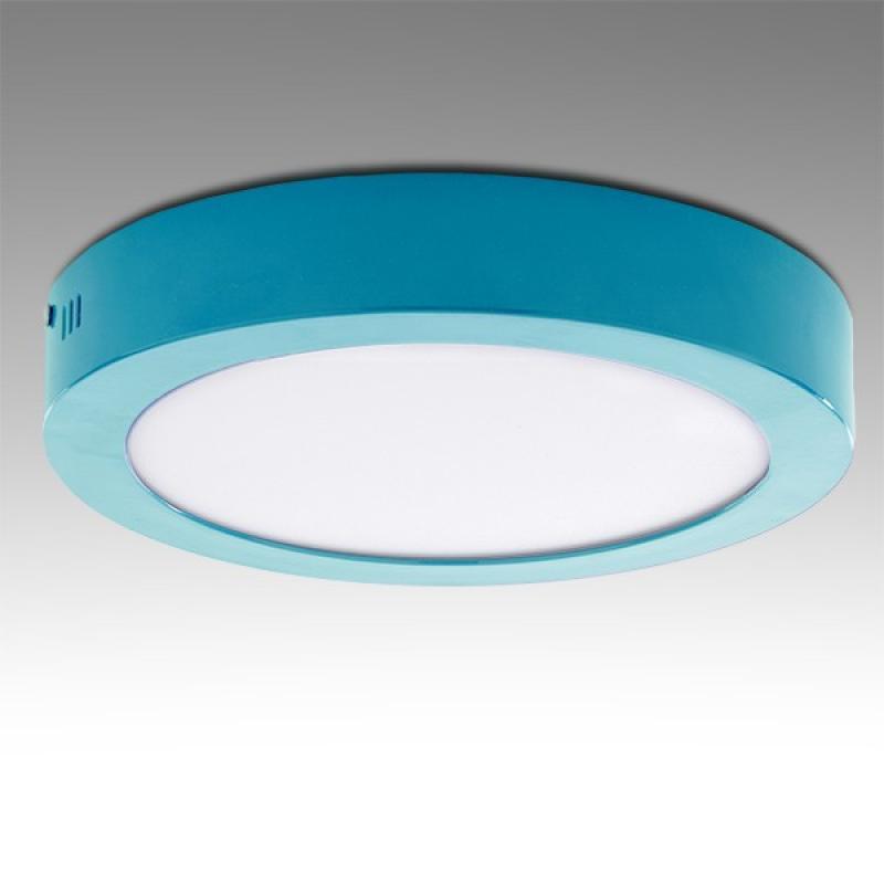 Plafón LED Circular Superficie Ø220Mm 18W 1450Lm 30.000H Azul - Imagen 1