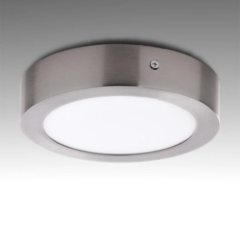 Plafón LED Circular Ø171Mm 12W 860Lm 50.000H Niquel Satinado - Imagen 1