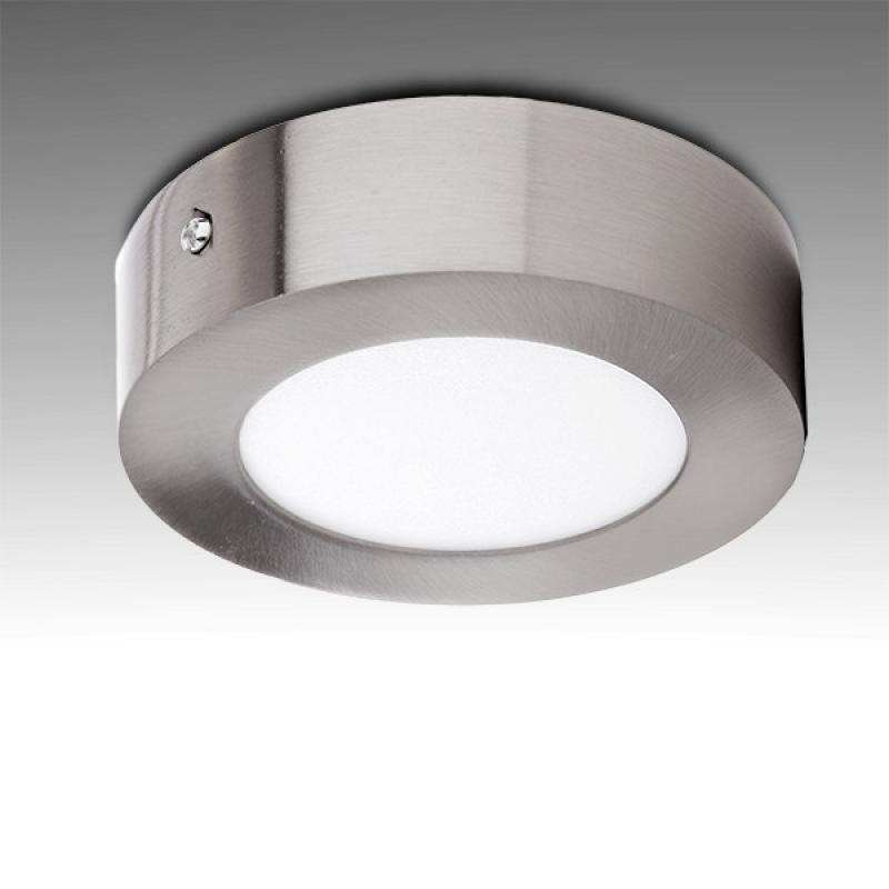 Plafón LED Circular Ø120Mm 6W 430Lm 50.000H Niquel Satinado - Imagen 1