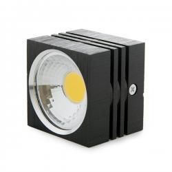 Foco Downlight  LED de Superficie COB Cuadrado Negro 57X57Mm 3W 270Lm 30.000H - Imagen 1