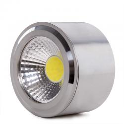 Foco Downlight  LED de Superficie COB Circular Niquel Satinado Ø68Mm 5W 450Lm 30.000H - Imagen 1