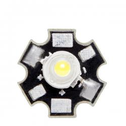 LED High Power 45X45 con Disipador 3W 220Lm 50.000H - Imagen 1