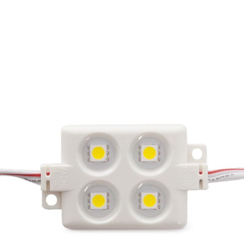 Módulo 4 LEDs ABS Inyectado SMD5050 1,44W Blanco - Imagen 1