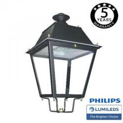Farola Villa Acero LED 100W LUMILEDS 150Lm/W