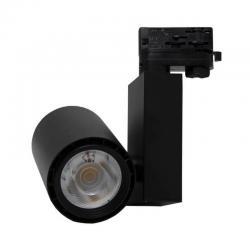 Foco LED 40W BERLIN Negro para Carril Trifásico 24º CRI +90