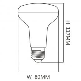 Bombilla LED 12W  E27   R80 120º - Imagen 2