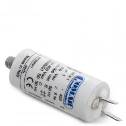 Condensador Motor 1µF 250-450V Faston Doble Tornillo M8 25x57mm - Imagen 2