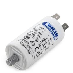 Condensador Motor 7µF 250-450V Faston Doble Tornillo M8 30x57mm - Imagen 1