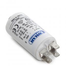 Condensador Motor 7µF 250-450V Faston Doble Tornillo M8 30x57mm - Imagen 2