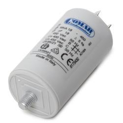 Condensador Motor 18µF 250-450V Faston Doble Tornillo M8 40x70mm - Imagen 1