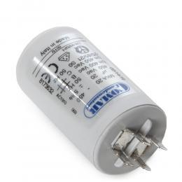 Condensador Motor 20µF 250-450V Faston Doble Tornillo M8 40x70mm - Imagen 2