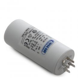 Condensador Motor 30µF 250-450V Faston Doble Tornillo M8 40x94mm - Imagen 2