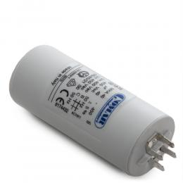 Condensador Motor 40µF 250-450V Faston Doble Tornillo M8 45x94mm - Imagen 2