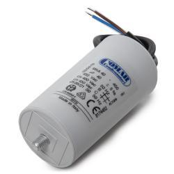 Condensador Motor 40µF 250-450V Cable 250mm Tornillo M8 45x94mm - Imagen 1
