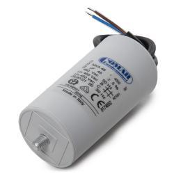 Condensador Motor 45µF 250-450V Cable 250mm Tornillo M8 50x94mm - Imagen 1