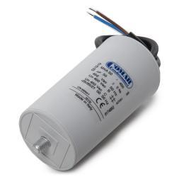 Condensador Motor 50µF 250-450V Cable 250mm Tornillo M8 50x94mm - Imagen 1