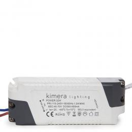 Driver LED 32W 40-70VDC 600mA  Downlight 32W-Kimera - Imagen 2