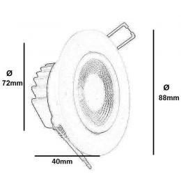 Empotrable LED 6W 90º - Imagen 2