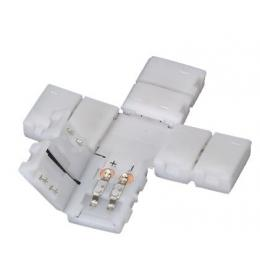 Conector de presión para tira LED monocromática cruz - Imagen 2