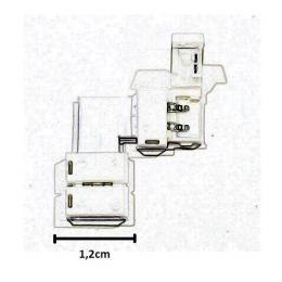 Conector de presión para tira LED monocromática angula - Imagen 2