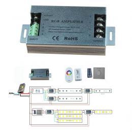 Amplificador para Tira LED RGB 350W 12V -24V - Imagen 2