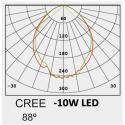 Baliza LED 10W CREE  Rectangular 65cm Exterior - Imagen 4