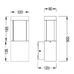 Aplique rectangular para LED E27 Exterior - Imagen 2