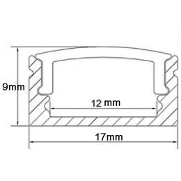 Perfil Aluminio U 2 metros - Imagen 2