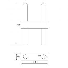 Conector de unión para tira LED 220v    7*13mm - Imagen 2