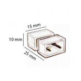 Conector de unión para tira LED 220v con silicona - Imagen 2
