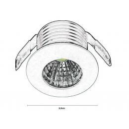 Empotrable LED 3W 30º - Imagen 2