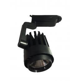 Foco LED 30W NORA Negro para Carril Monofásico 35º - Imagen 2