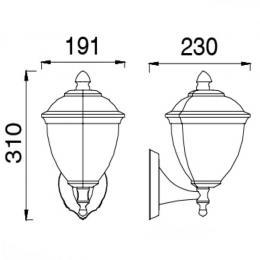 Aplique Farol  para lámpara LED E27 Exterior - Imagen 2