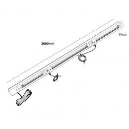 Guía colgador 2 metros para Carpeta LED A1 A2 A3 y A4 - Imagen 2