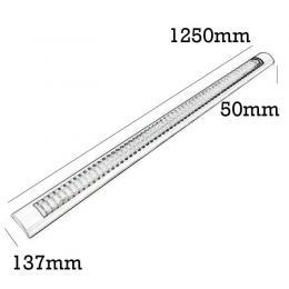 Pantalla para dos tubos de LED T8 60cm - Imagen 2