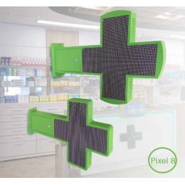 Banderola  Electrónica LED Cruz de Farmacia RGB Full Color Pixel 8 - Imagen 2