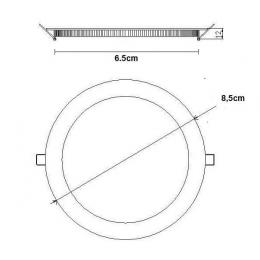 Placa Slim LED Circular 5W - Imagen 2