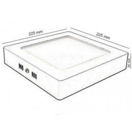Plafón LED Superficie cuadrado blanco 20W 120º -IP20 - interior - Imagen 2