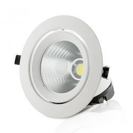 Foco Downlight LED COB Circular Orientable 40W 3200Lm 30.000H - Imagen 2