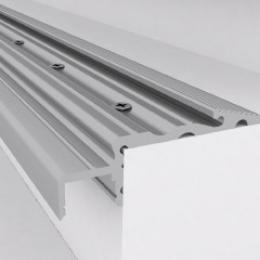 Perfíl Aluminio para Tira LED Iluminación Escaleras - Difusor Opal 1M - Imagen 2