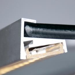 Perfíl Aluminio para Tira LED Estanterías Cristal 6Mm 1M - Imagen 2