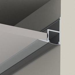 Perfíl Aluminio para Tira LED Instalación Techos Difusor Opal 1M - Imagen 2