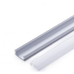 Perfíl Aluminio para Tira LED - Difusor Opal 2M - Imagen 2