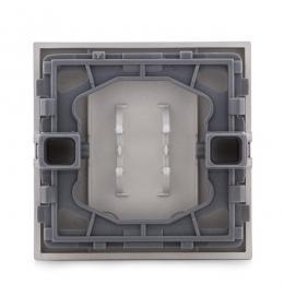 Tecla con Visor Panasonic Novella Interruptor, Conmutador, Interruptor Luminosos, Color Plata (Compatible Mecanismo Karre) - Ima
