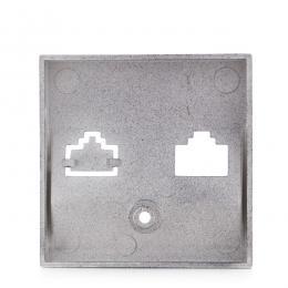 Tapa Frontal Panasonic Novella 1X Rj11-Rj45 Ó 2Xrj11-Rj45, Color Fume (Compatible Mecanismo Karre) - Imagen 2