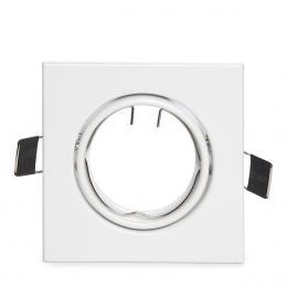 Aro Foco Downlight Basculante Cuadrado Aluminio Blanco 83/83Mm - Imagen 2