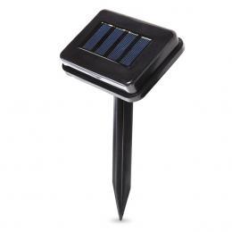 Guirnalda Solar 100 Luces 12M IP44 Fijo/Intermitente Azul - Imagen 2