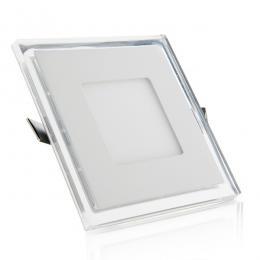 Foco Downlight  LED Cuadrado con Cristal Duo (Blanco/Azul) 130X130Mm 10W 800Lm 30.000H - Imagen 2