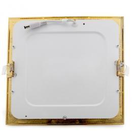 Placa Led Cuadrada 225X225Mm 18W 1300Lm 50.000H Dorado - Imagen 2